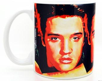 Elvis Presley coffee mugs unique 11 oz ceramic cups - Novelty rop