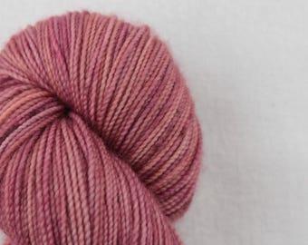 Hand-dyed yarn - sock yarn - superwash - merino - dyed-to-order - FRAMBOISE
