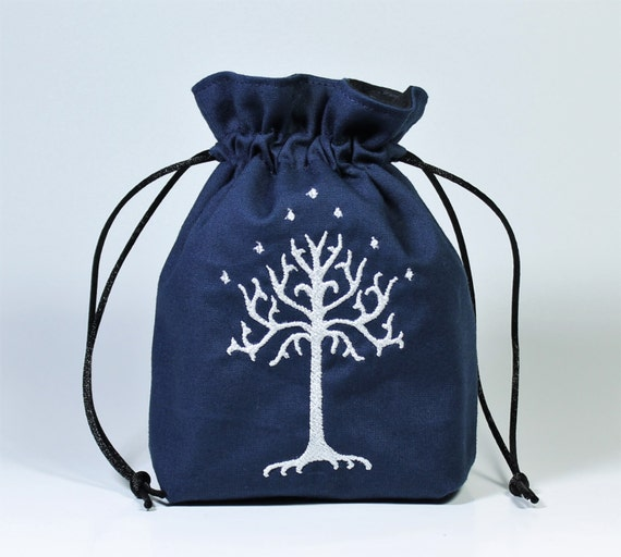 SALE Tree of Gondor Drawstring Bag, Dice Bag