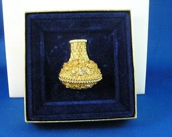 Vintage Avon Flower Basket Glace Pin with original box