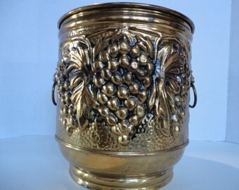Vintage Brass Decorative Planter
