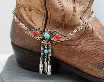 Thunderbird Boot Bling, Western Jewelry, Boot Jewelry, Boot Accessories, Boot Bracelet, Boot Anklet