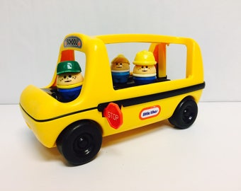 Vintage Little Tikes, School Bus, Toddle Tots Bus, Little Tikes Bus, Vintage Toys, Push Toys, Vintage Toy Bus, Preschool Toys, Toddler Toy