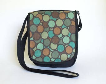 Cross Body Bag in Aqua Bubbles, Travel Bag