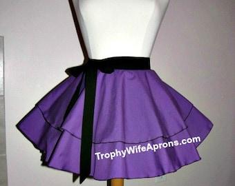 Purple circular style retro half apron # 4101