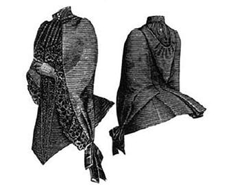 AG1001 - 1887 Silk Mantle with Hood Sewing Pattern by Ageless Patterns