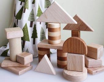Teething Wooden Block Set | Wooden Blocks | Wooden Toys | Building Blocks | Toddler Toys