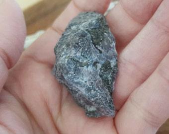 Mystic Merlinite (Indigo Gabbro) ~ 1 large rough crystal approx 1.8x1x.8 inches (MM13)