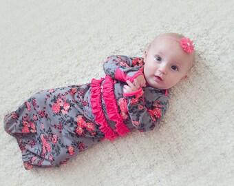 Poppy Petal Baby Gown