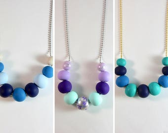 HARPER Clay Necklace - Blues