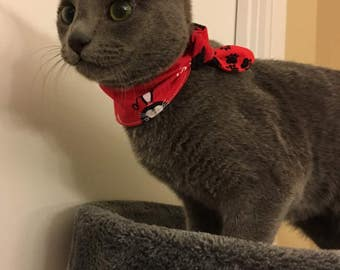 Tie-on Cat Bandana You are Purrfect - XXSmall or XSmall