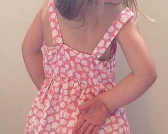 80's girls red dress size 6