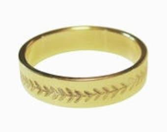 Wheat Pattern Fertility Prosperity Bible Verse Ring 14K Gold