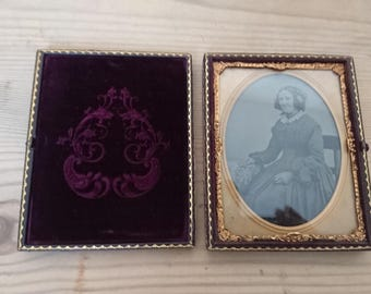 Antique Daguerreotype cased photo of a lady