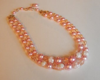 Japanese Sakura Pink Cherry Blossom Necklace
