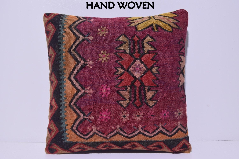 20x20 HANDWOVEN shabby chic pillow cross decorative pillow