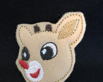 UNCUT Roudolph the Red Nose Reindeer feltie