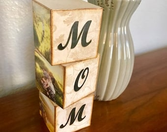 Mom Personalized Blocks FREE SHIPPING