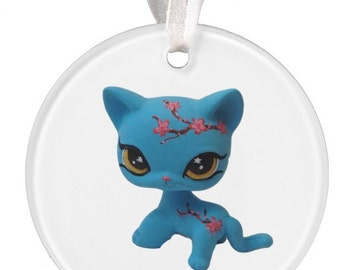 PRE-ORDER Custom Littlest Pet Shop Cherry Blossom Cat Ornament