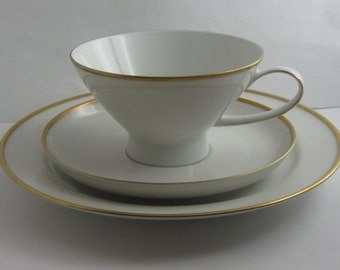 ROSENTHAL (Selb) Germany (HELENA). Sammeltasse. Tea set / coffee set (3-piece). Porcelain collectible. Vintage