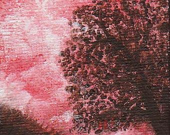 Silence - Acrylic Painting on Mini Canvas - OOAK