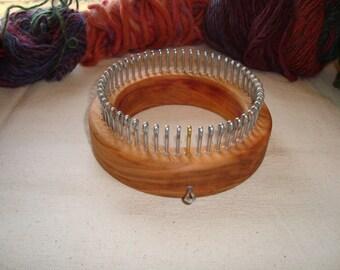 Sock Knitting Loom - Fine Gauge - Wood Round - Adult Sizes - Cottage Looms