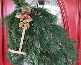 A Sparkle Holiday Horse Wreath
