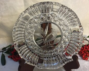 Vintage Hofbauer Crystal Relish Sweet Meat Dish  Hofbauer Byrdes Collection 24% Lead Crystal Thanksgiving Christmas Dinner
