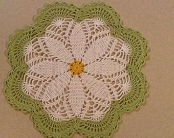 Handmade Daisy Doily
