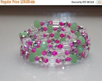 20%OFF Hot Pink and Spring Green Wrap Bracelet