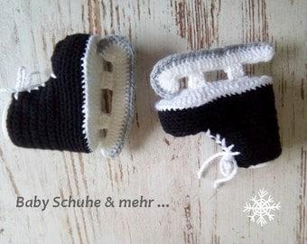 Baby skates ice skates blades ice hockey crochet