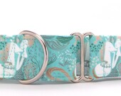 Mermaid and Unicorn Dog Collar (Martingale, Buckle, or Tag)