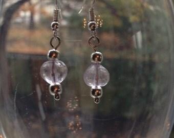 Faceted Pink Amethyst Earrings