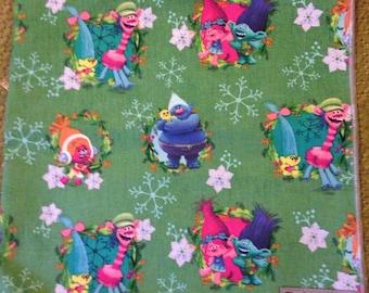 Holiday dog bandana, trolls
