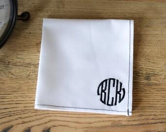 monogrammed pocket square,personalized pocket square,custom monogrammed pocket square