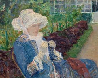 "Mary Cassatt : ""Lydia Crocheting in the Garden at Marly"" (1880) - Giclee Fine Art Print"