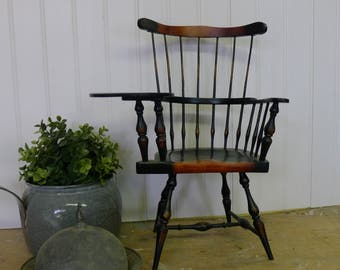 Windsor back spindle doll chair - writing chair