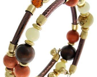 Multi Bead Earth Tone Bracelet