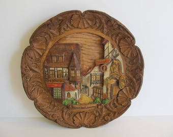 German Wall Plaque, German Wood Plaques, Wood Plaques, Wall Decor, Germany, German Decor, Rudesheim Drosselgosse, Drusselhof, Wall Plaques