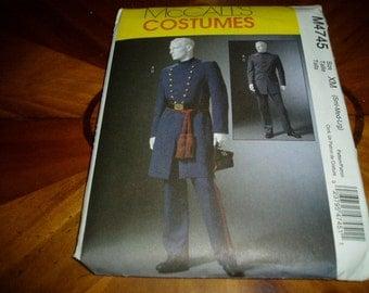 McCalls M4745 Mens Civil War Uniform Sewing Pattern Like New Uncut Unfolded