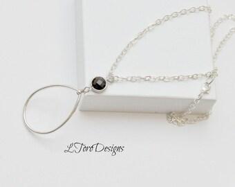 Accessory, Eyewear Chain, Lanyard, Silver Lanyard, Chain Lanyard, Women's Lanyard,Brown Quartz Lanyard, Women's Lanyard,Designer Lanyard