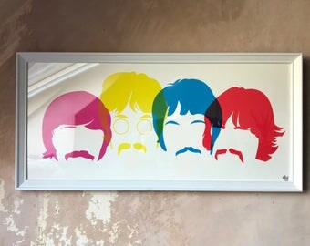Screenprint Sgt Peppers Lonely Hearts Club Band, Beatles 50 years,poster, john lennon, paul mccartney, george harrison, ringo starr