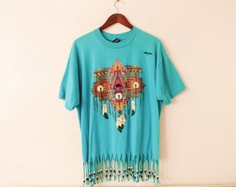 XLARGE Vintage 1990s Arizona (Beaded Fringe) T-Shirt