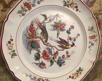 "Antique Villeroy & Boch Dinner Plate 10"", Made in Mettlach Germany 1880 - 1920s"
