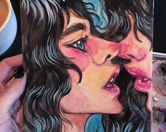 Not Quite Original 6x9 Gouache Painting