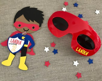 Personalized Superhero Glasses - mask shades - one size fits all