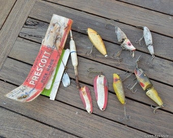 Joe's Fishing Box Lures from the 1950's