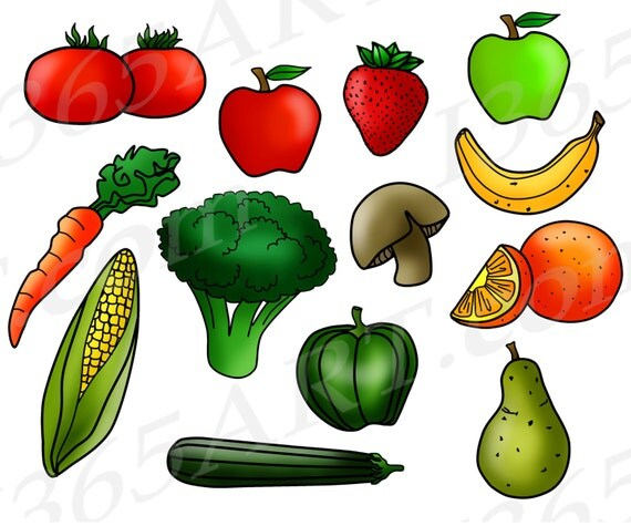 50% OFF Fruits and Vegetables Clipart, Fruit Clip Art ...