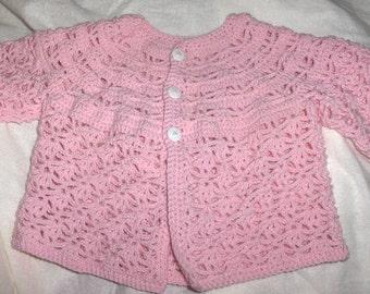 Baby jacket, new crochet baby jacket, handmade jacket, baby girl crochet, photo prop