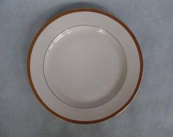 Vintage A. Lanternier & Co. Limoges China Dinner Plate, Gold Filigree, France